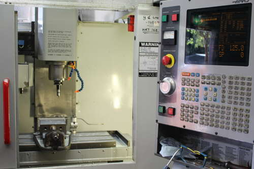 Haas machining centre